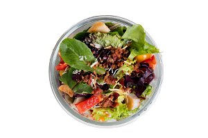 Mixed salad in container