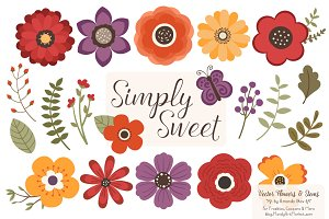 Autumn Flowers Clipart
