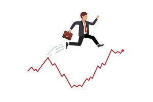 Smart and agile businessman
