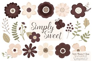 Chocolate Flowers Clipart