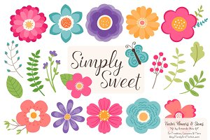 Crayon Box Flowers Clipart