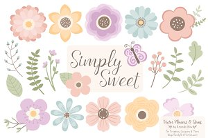 Pastel Flower Clipart & Vectors