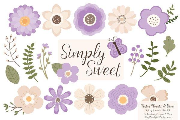 Lavender Flowers Clipart