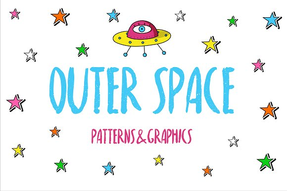 Outer Space patterns&graphics