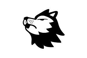 Editable Howling Husky