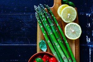 Green asparagus preparation