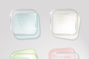vector banner glass surface