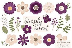 Plum Flowers Clipart