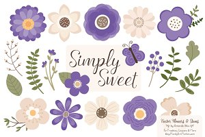 Purple Clipart Flowers