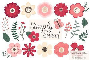 Rose Garden Flowers Clipart
