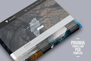 Piranha - Travelling PSD Template