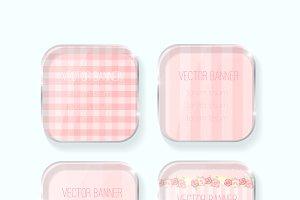 shabby chic vector banner set