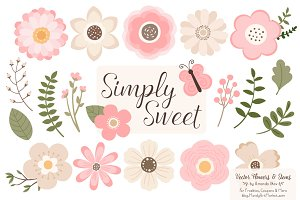 Soft Pink Flowers Clipart