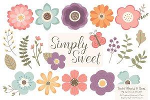 Vintage Floral Clipart & Vectors
