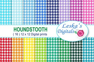 Houndstooth Pattern - Digital Paper