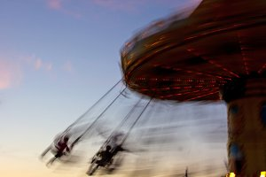 Swing Ride and Blurred Riders
