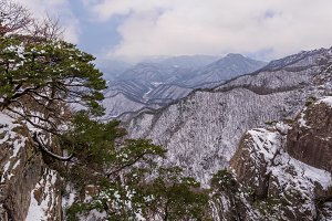 Daedunsan Mountain in South Korea.