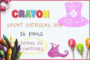Crayon St Patrick's Day
