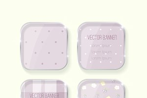 vector shabby chic banners set