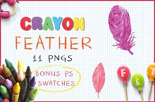 Crayon Feather