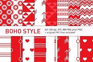 Boho-style candyapple pattern set