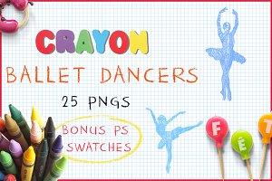 Crayon Ballet Dancers