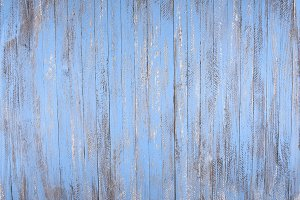 Rustic Blue Wood Background
