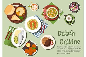 Native dishes of dutch cuisine