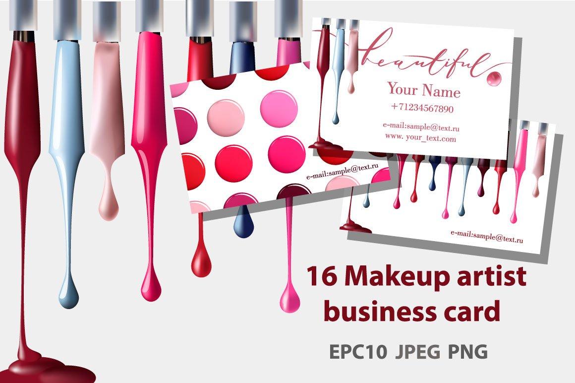 Set of Makeup artist business card ~ Business Card Templates ...