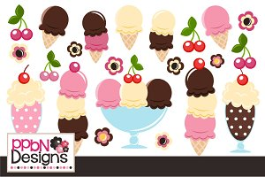 Ice Cream Vectors and Clipart