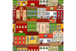 Old town streets pattern