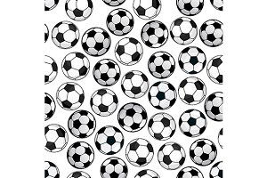 Soccer themed pattern