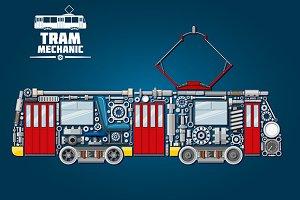 Town tram mechanics