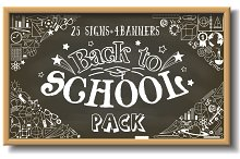 Back to school illustrations pack.