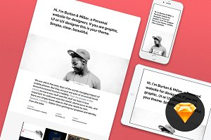 Personal website #1 for Sketch 3