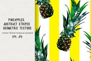 Pineapples abstract tropical pattern