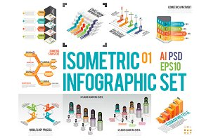 Isometric Infographic Set 01