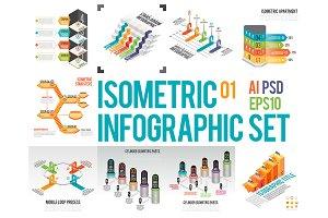 Isometric Infographic Set 01