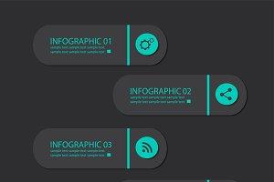 Infographics neon