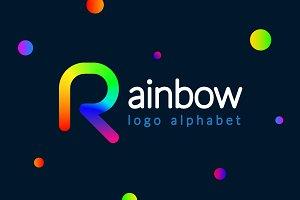 """Rainbow"" logo alphabet"
