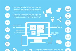 Infogrpahic elements vector white