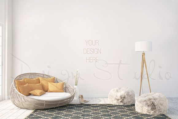 interior PSD, living room photo - Product Mockups