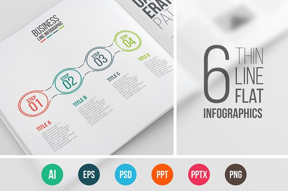 Line flat elements for infographic_7