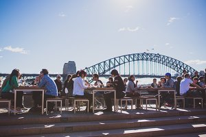People at Sydney Opera bars