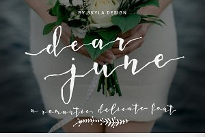 A Romantic font, Dear June