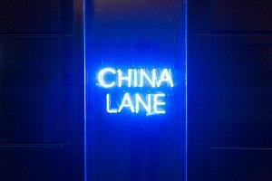 China Lane Neon Sight