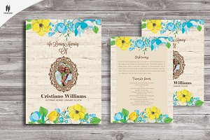 Funeral Invitation/Announcement card