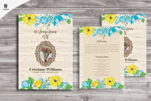 Funeral InvitationAnnouncement card Invitation Templates on – Funeral Invitation Cards
