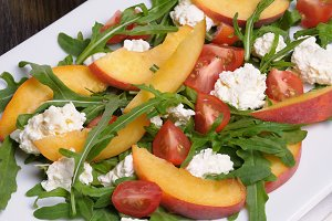 Salad with Peaches