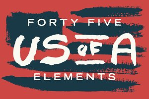 45 Hand Painted USA Elements